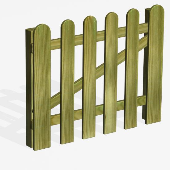 Puerta valla Parques 100x150 cm con herrajes, 2 postes 150 cm, anclajes y torn. inox