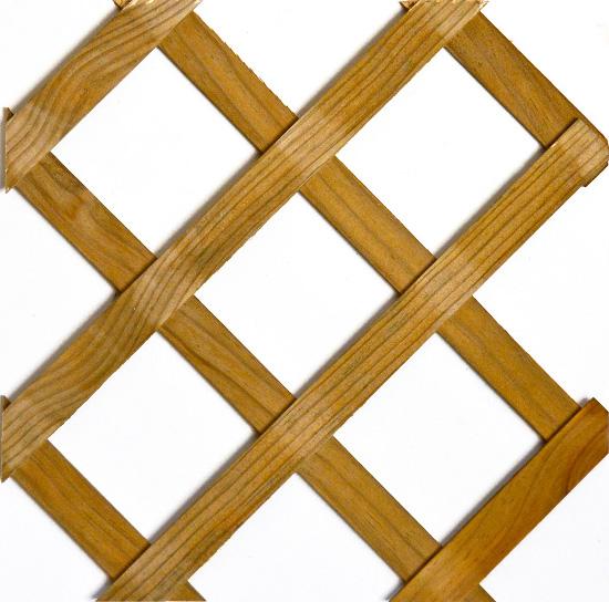 CELOSIA de pino tratada lasur, malla DIAGONAL, hueco 75 mm, 220x42 cm