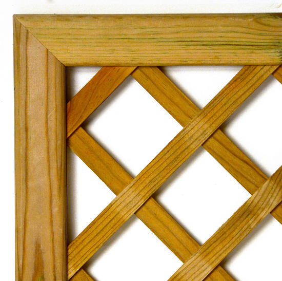 CELOSIA pino tratada lasur, enmarcada, malla DIAGONAL, hueco 75 mm, 83x94 cm