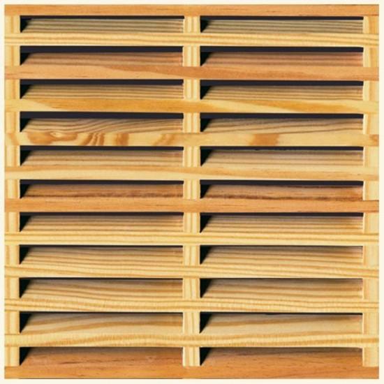 CELOSIA MALLORQUINA de pino tratada lasur, 110x101 cm