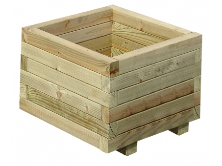 6 Jardineras TOVE 4 de abeto nórdico 40x40x31 cm