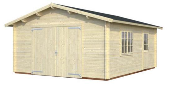 Garaje ROGER 23,9 m2 con portón de madera