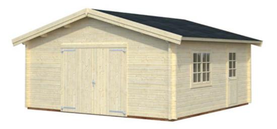 Garaje ROGER 27,7 m2 con portón de madera