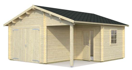 Garaje ROGER 21,9+5,2 m2 con portón de madera