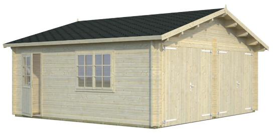 Garaje ROGER 28,4 m2 con portón de madera