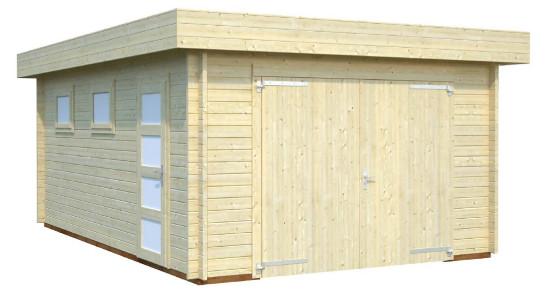 Garaje RASMUS 19,0 m2 con portón de madera