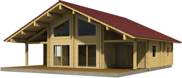 Casa Madera GERDA 123,5 m2 114 mm