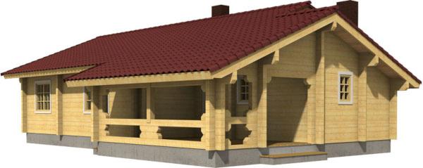 Casa Madera BRITTA 84,5 m2 114 mm