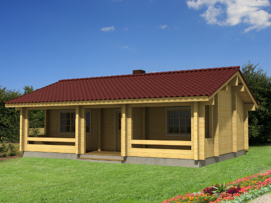 Casa Madera ELLY 46 m2 88 mm
