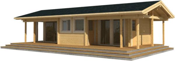 Casa Madera ASTRID 42,0 m2 88 mm
