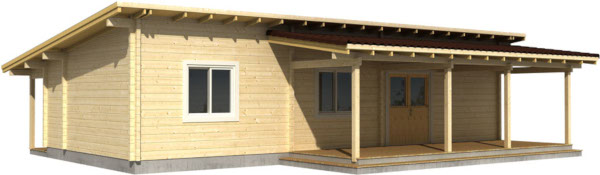 Casa Madera SOLVEIG 64,8 m2 114 mm