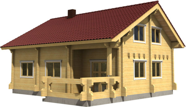 Casa Madera OLIVIA 96,2 m2 134 mm