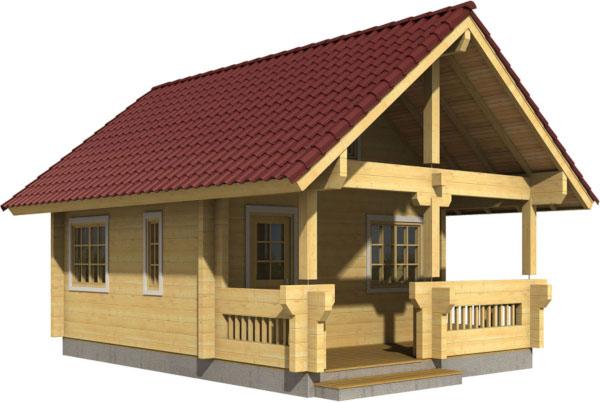 Casa Madera JOHANNA 39 m2 88 mm