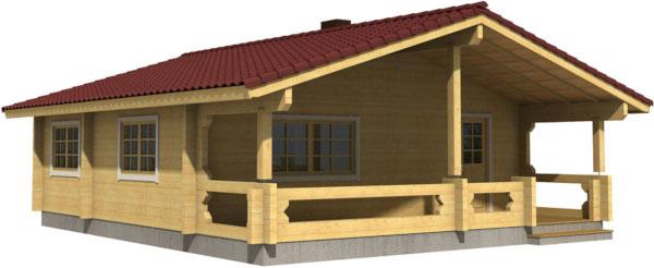 Casa Madera INGRID 54,4 m2 88 mm