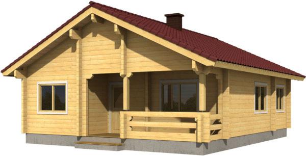 Casa Madera REGINA 69,4 m2 88 mm