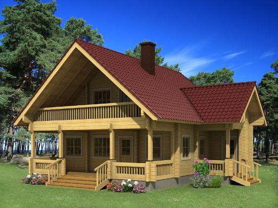 Casa Madera ELISA 98,1 m2 134 mm