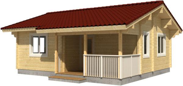 Casa Madera PAULA 40 m2 114 mm