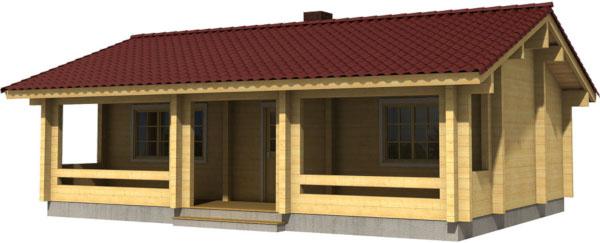 Casa Madera ELLY 46 m2 114 mm