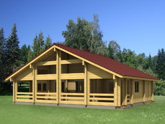 Casa Madera ESTHER 85,2 m2 134 mm