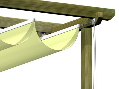 Pergola estructura for Poleas dobles para toldos