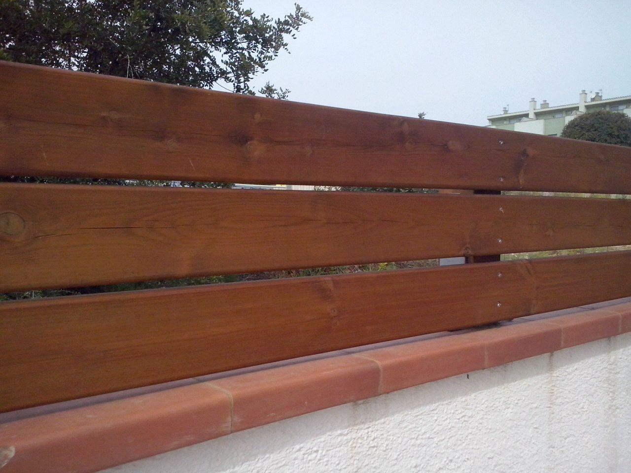 Valla pino FLANDES, tornill. vista 120 cm ancho x 150 cm alto, 1 poste, 1 ancla galvan, torn. inox