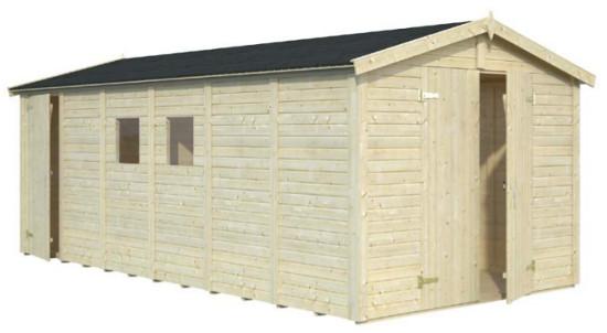 Cobertizo de madera DAN 14,2 m2