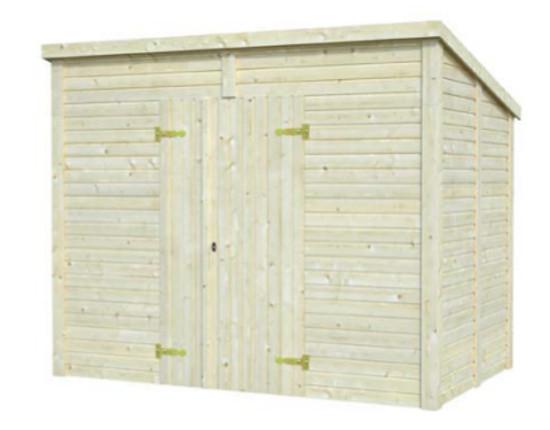 Cobertizo de madera LEIF 4,2 m2