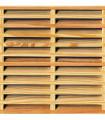 CELOSIA MALLORQUINA de pino tratada lasur enmarcada, 210x111 cm