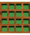 CELOSIA pino tratada lasur enmarcada, malla vertical, hueco 28 mm, 210x110 cm