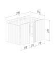 Almacén 6,2 m2 de Carpot KARL 23,1 m2 -OPCIONAL-