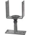 6 Anclas soporte para poste 12x12 cm
